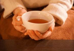 表参道榊城整体院では施術後にゆっくりお茶をお召し上がりいただきます