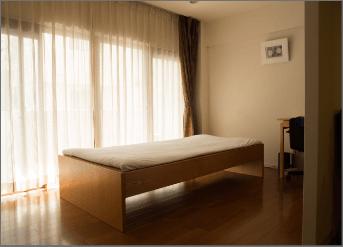 榊城整体院の施術用ベッド