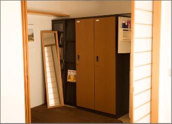 榊城整体院の更衣室
